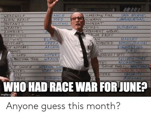 Guess: Anyone guess this month?