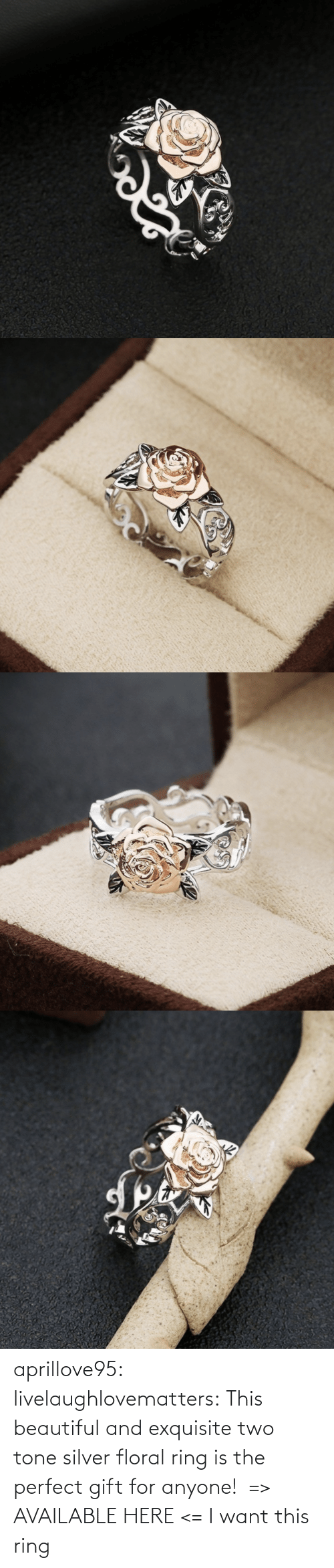 two: aprillove95:  livelaughlovematters:  This beautiful and exquisite two tone silver floral ring is the perfect gift for anyone! => AVAILABLE HERE <=    I want this ring