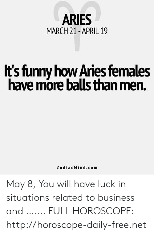 ARIES MARCH 21-April19 It's Funny How Aries Females Have