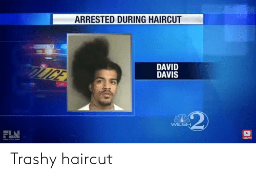 Funny, Haircut, and Trashy: ARRESTED DURING HAIRCUT  DAVID  DAVIS  WESH  SUBSCRIBE  FUNNY LOCAL NENS Trashy haircut