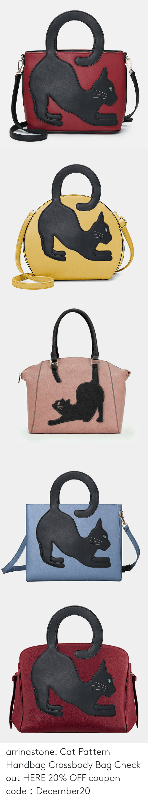 coupon: arrinastone: Cat Pattern Handbag Crossbody Bag Check out HERE 20% OFF coupon code:December20
