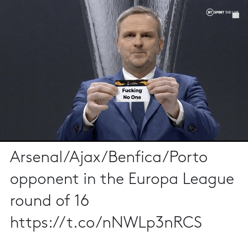 Round: Arsenal/Ajax/Benfica/Porto opponent in the Europa League round of 16 https://t.co/nNWLp3nRCS