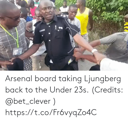 Board: Arsenal board taking Ljungberg back to the Under 23s. (Credits: @bet_clever )  https://t.co/Fr6vyqZo4C
