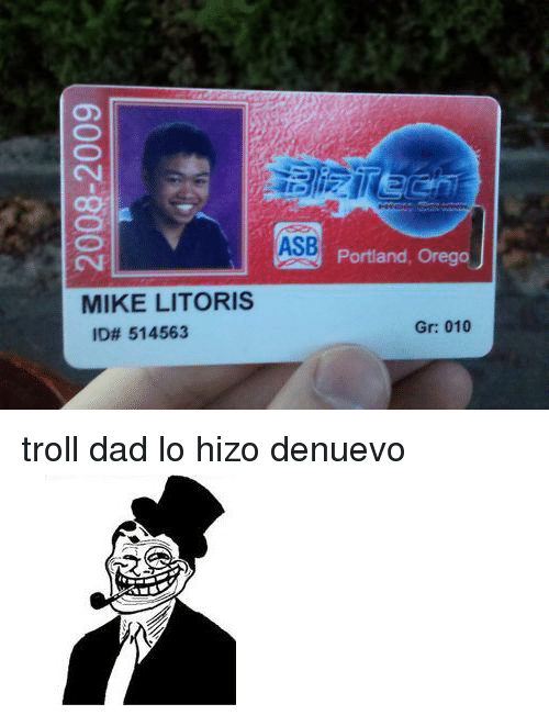 ASB Portiand OregoJ MIKE LITORIS ID# 514563 Gr 010 <p>troll