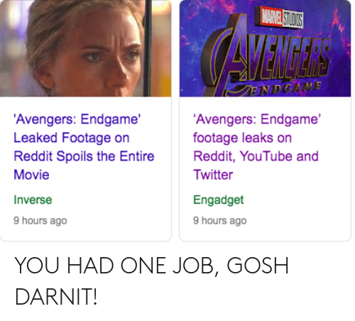🐣 25+ Best Memes About Avengers: Endgame Leaked Footage