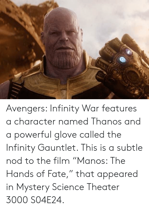 Avengers Infinity War Features a Character Named Thanos and