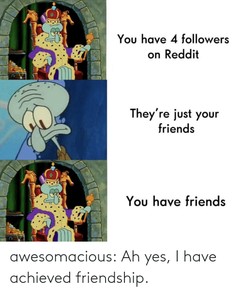 Ah: awesomacious:  Ah yes, I have achieved friendship.