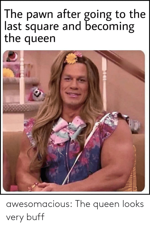 Queen: awesomacious:  The queen looks very buff