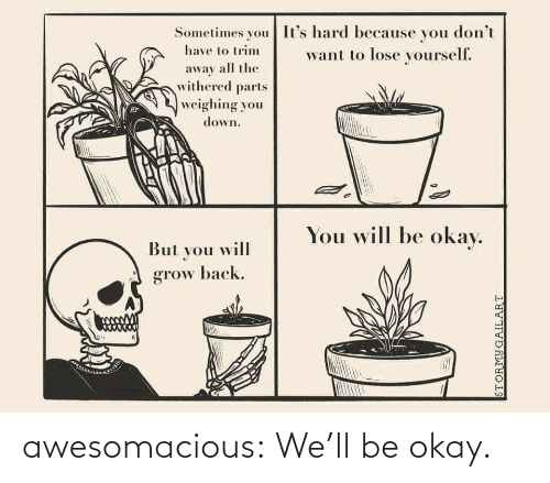 Okay: awesomacious:  We'll be okay.