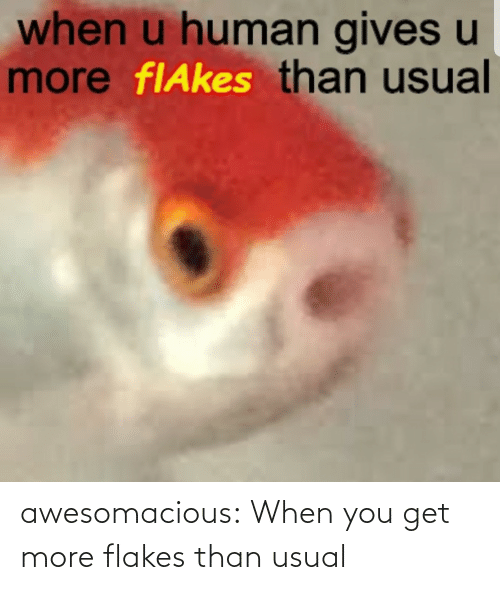 when you: awesomacious:  When you get more flakes than usual