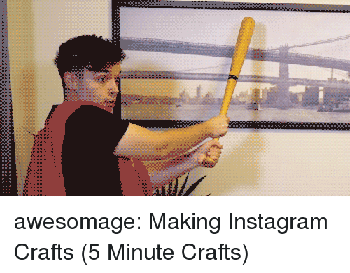 Instagram, Tumblr, and youtube.com: awesomage:  Making Instagram Crafts (5 Minute Crafts)