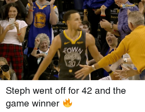The Game, Game, and Bay Area: BAY AREA  HE  CASENo  IE  hec  30  ASINO  ARRIO  achan Steph went off for 42 and the game winner 🔥