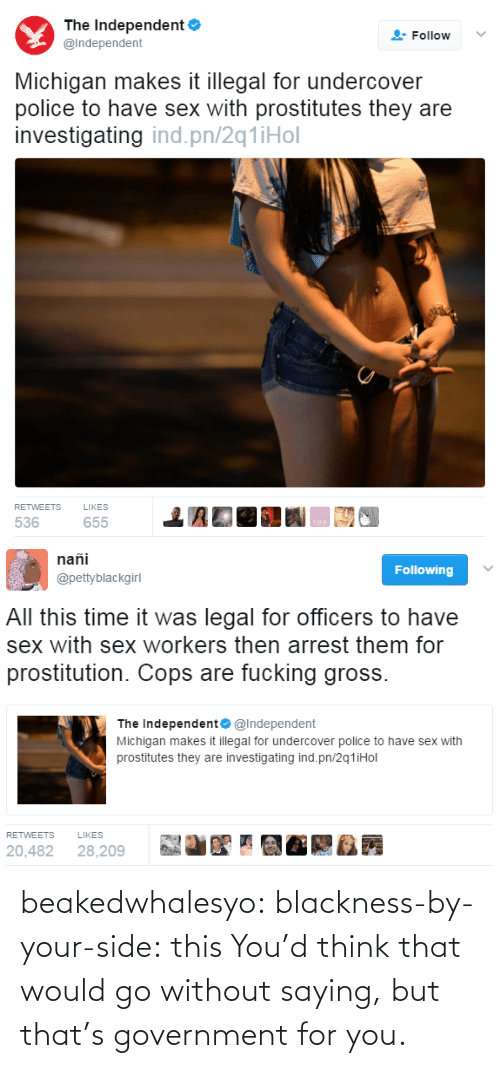 Without: beakedwhalesyo: blackness-by-your-side: this   You'd think that would go without saying, but that's government for you.