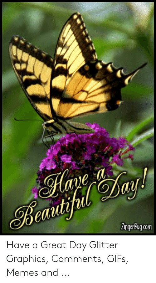 Beautifa Have a Great Day Glitter Graphics Comments GIFs