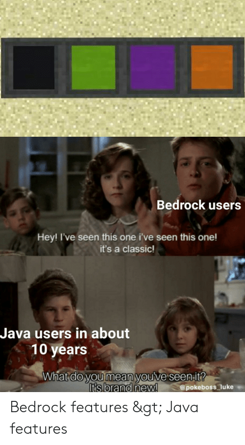 Bedrock Users Hey! I've Seen This One I've Seen This One! It's a