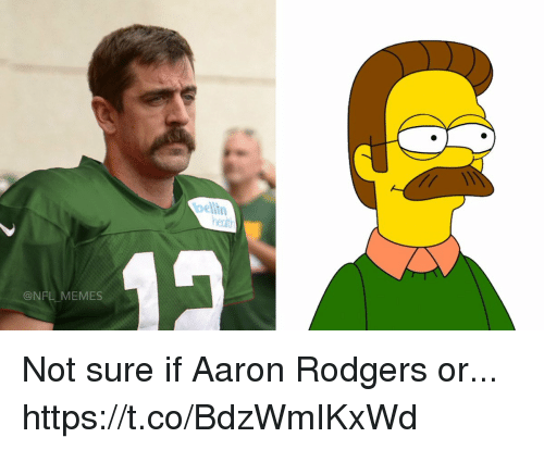 aarons: belin  ent  @NFL MEMES Not sure if Aaron Rodgers or... https://t.co/BdzWmIKxWd