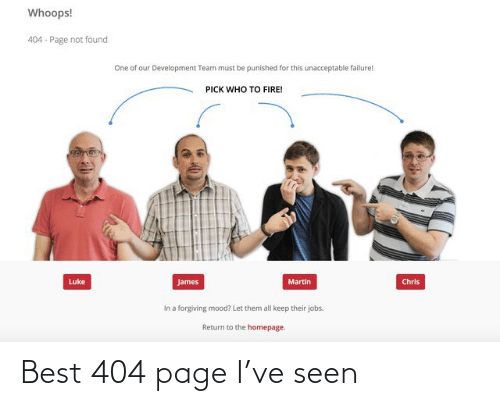 page: Best 404 page I've seen