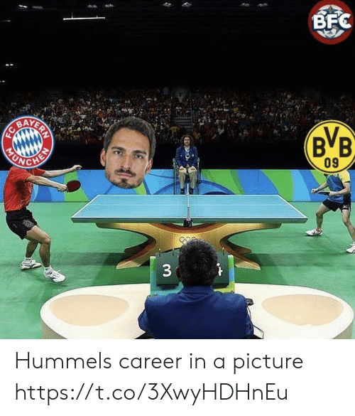 Memes, A Picture, and 🤖: BFC  BB.  BA  09  UN  33  ERN Hummels career in a picture https://t.co/3XwyHDHnEu