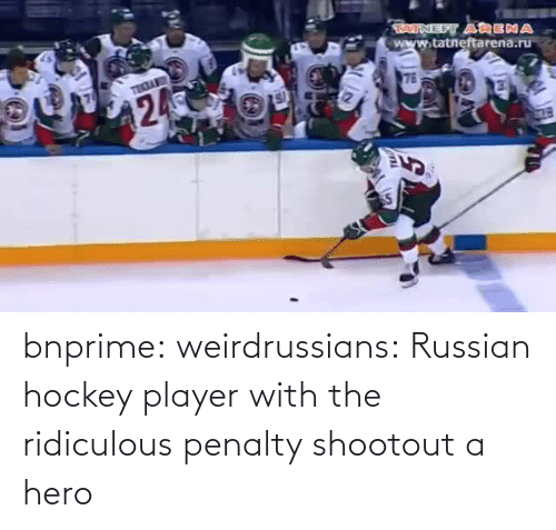Russian: bnprime: weirdrussians:   Russian hockey player with the ridiculous penalty shootout    a hero