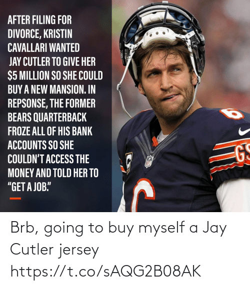 Jay: Brb, going to buy myself a Jay Cutler jersey https://t.co/sAQG2B08AK