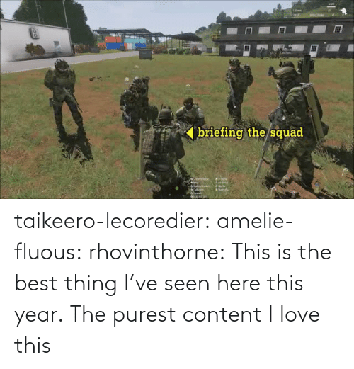 Squad: briefing the/squad  ' taikeero-lecoredier:  amelie-fluous:  rhovinthorne:  This is the best thing I've seen here this year.  The purest content  I love this