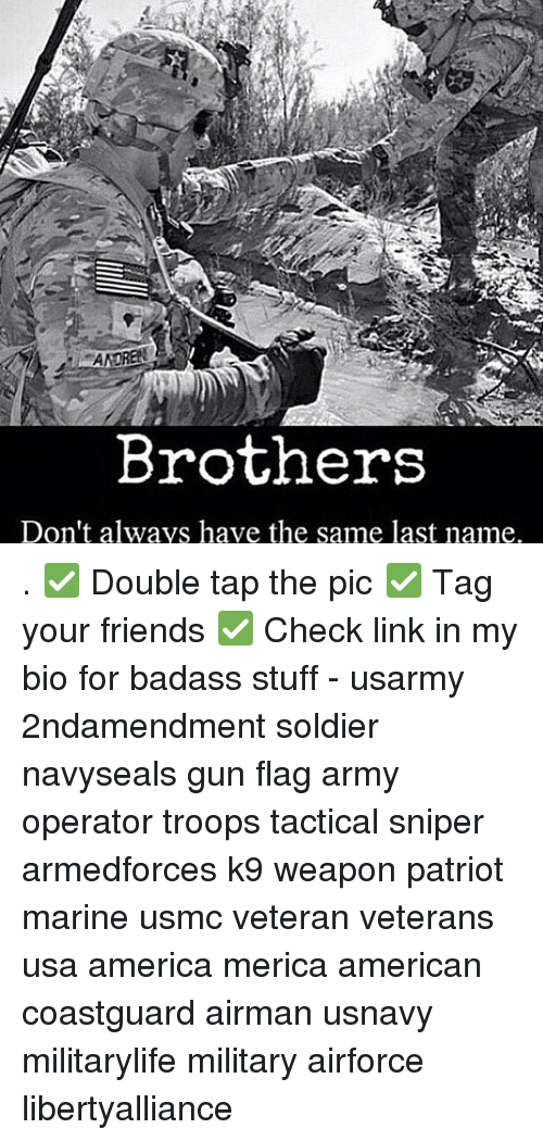 Brothers Don't Always Have the Same Last Name ✅ Double Tap