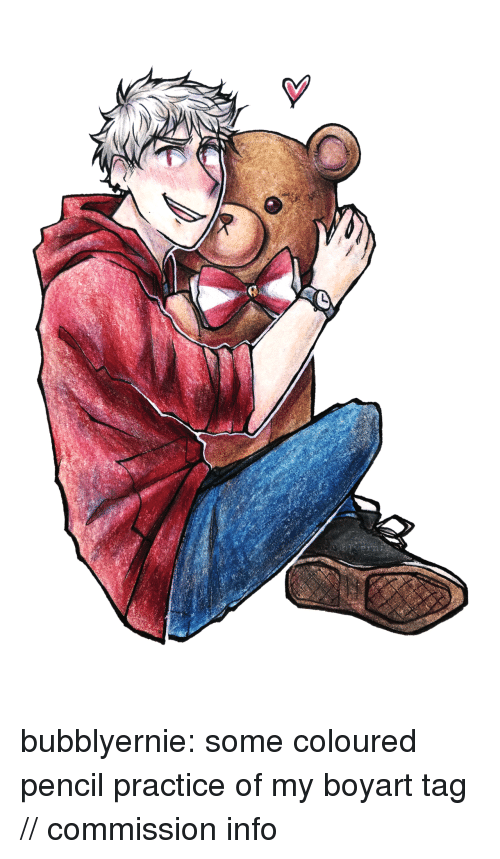 Target, Tumblr, and Blog: bubblyernie:  some coloured pencil practice of my boyart tag // commission info