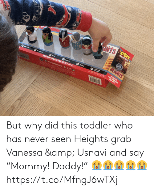 """who: But why did this toddler who has never seen Heights grab Vanessa & Usnavi and say """"Mommy! Daddy!"""" 😭😭😭😭😭 https://t.co/MfngJ6wTXj"""