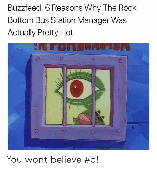 bus station: Buzzfeed: 6 Reasons Why The Rock  Bottom Bus Station Manager Was  Actually Pretty Hot You wont believe #5!
