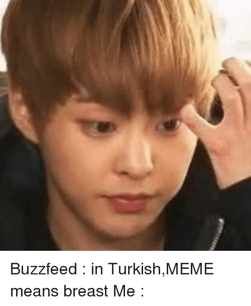 Meme, Memes, and Buzzfeed: Buzzfeed : in Turkish,MEME means breast Me :