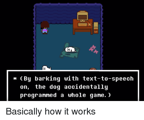 by Barking With Text-To-Speech on the Doq Accidentallu