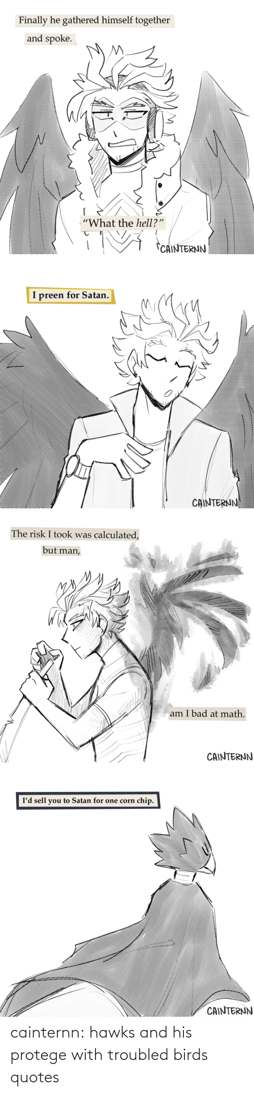 Quotes: cainternn:  hawks and his protege with troubled birds quotes