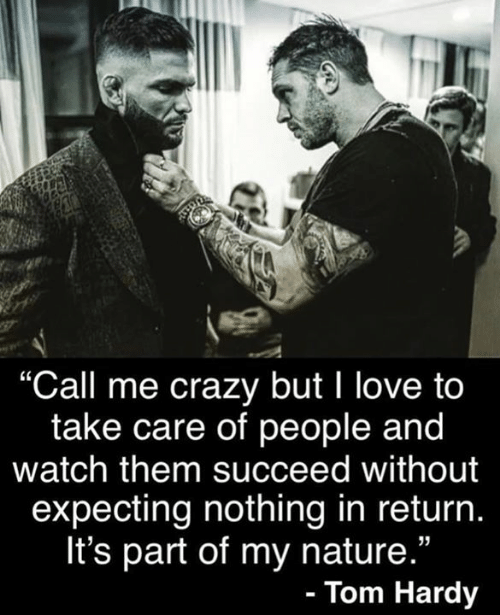 "Crazy, Love, and Tom Hardy: ""Call me crazy but 