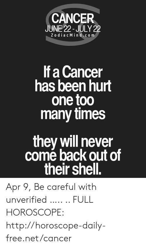 CANCER JUNE 22-July 22 ZodiacMindcom if a Cancer Has Been