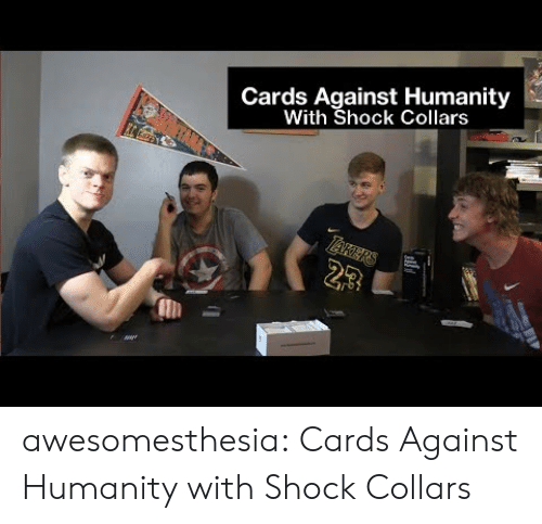 Cards Against Humanity: Cards Against Humanity  With Shock Collars  23 awesomesthesia:  Cards Against Humanity with Shock Collars