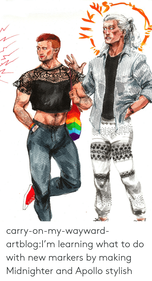 Apollo: carry-on-my-wayward-artblog:I'm learning what to do with new markers by making Midnighter and Apollo stylish