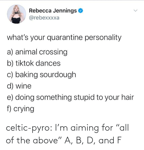 """All Of: celtic-pyro:  I'm aiming for """"all of the above""""   A, B, D, and F"""