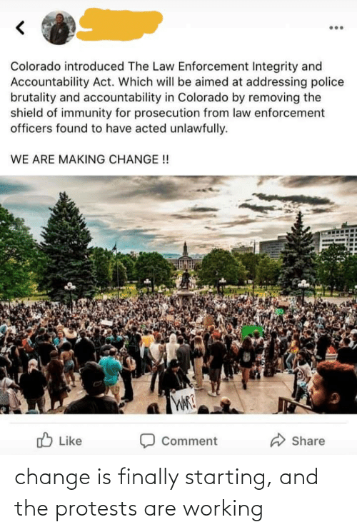 Protests: change is finally starting, and the protests are working