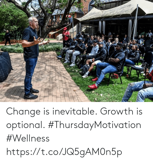 Love for Quotes: Change is inevitable. Growth is optional. #ThursdayMotivation #Wellness https://t.co/JQ5gAM0n5p