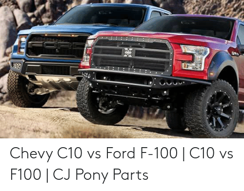 Chevy C10 vs Ford F-100 | C10 vs F100 | CJ Pony Parts
