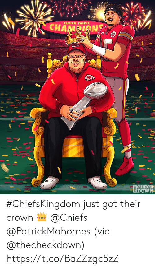 their: #ChiefsKingdom just got their crown 👑 @Chiefs @PatrickMahomes (via @thecheckdown) https://t.co/BaZZzgc5zZ