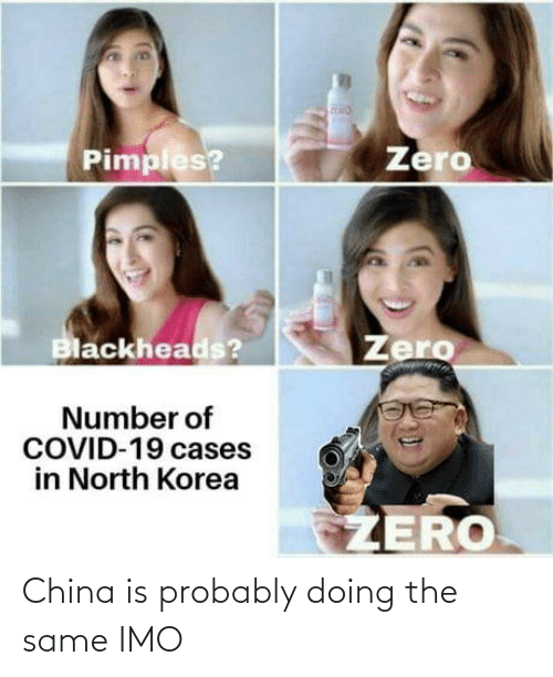 China: China is probably doing the same IMO