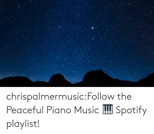open: chrispalmermusic:Follow the Peaceful Piano Music 🎹 Spotify playlist!