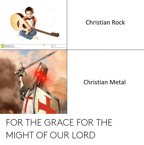 Anastasia, Metal, and Com: Christian Rock  Download from  Dreamstime.com  18281908  Anastasia Shleval Drearst me com  Christian Metal FOR THE GRACE FOR THE MIGHT OF OUR LORD