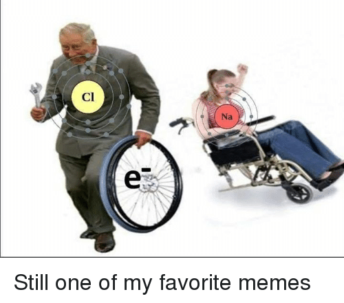 Memes, 🤖, and One: Cl  Na Still one of my favorite memes
