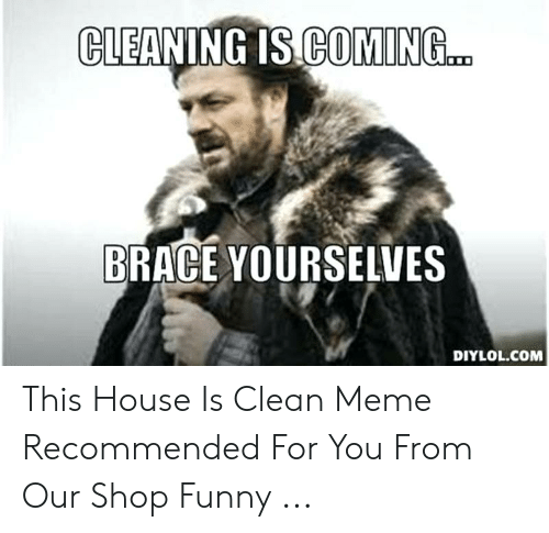 CLEANING IS COMING BRACE YOURSELVES DIYLOLCOM This House Is