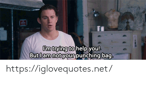 Help, Net, and You: Cm trying to help you!  But lam not your punching bag. https://iglovequotes.net/