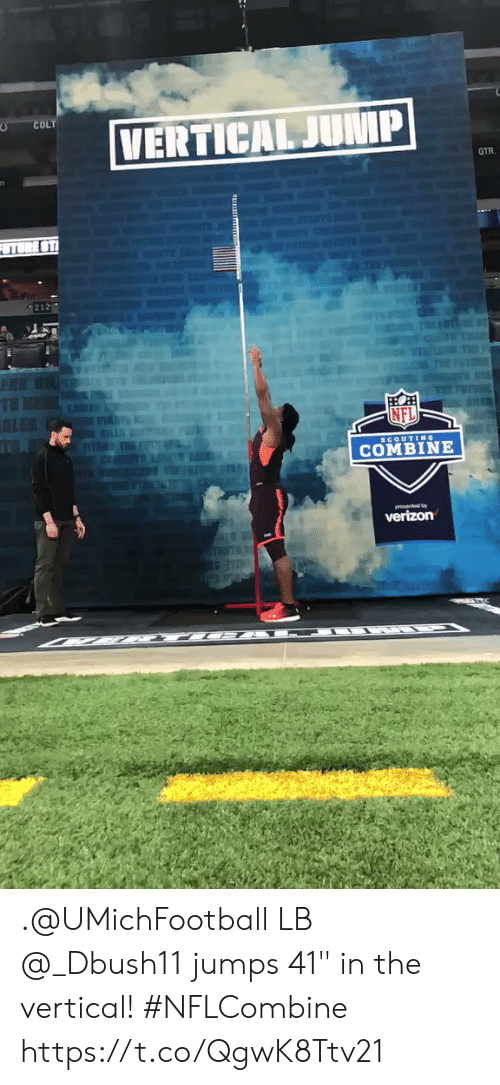 "Memes, Nfl, and 🤖: COLT  212  NFL  COMBINE .@UMichFootball LB @_Dbush11 jumps 41"" in the vertical! #NFLCombine https://t.co/QgwK8Ttv21"