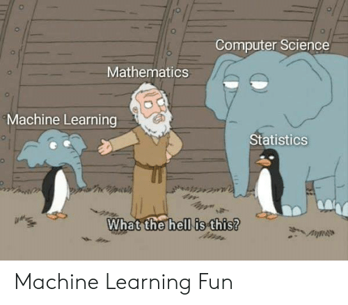 Statistics: Computer Science  Mathematics  Machine Learning  Statistics  What the hell is this? Machine Learning Fun
