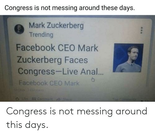 congress: Congress is not messing around this days.